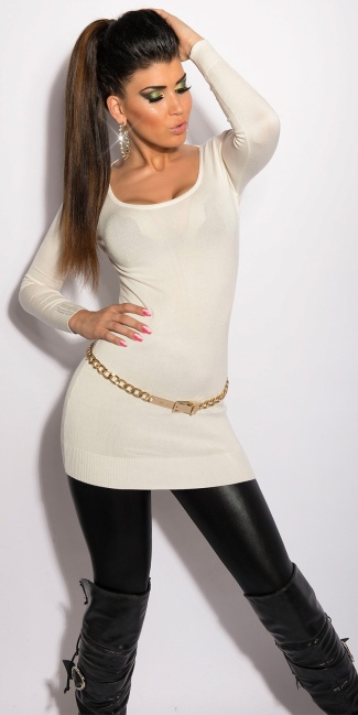 Sweater with little chains White