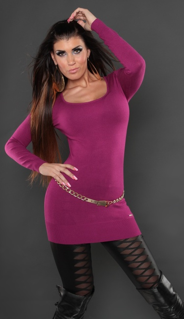 Sexy KouCla sweater, backfree with bows Violet