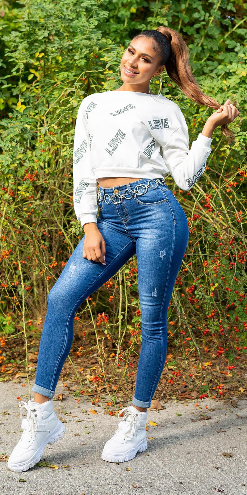 Sexy skinny fashion jeans blauw