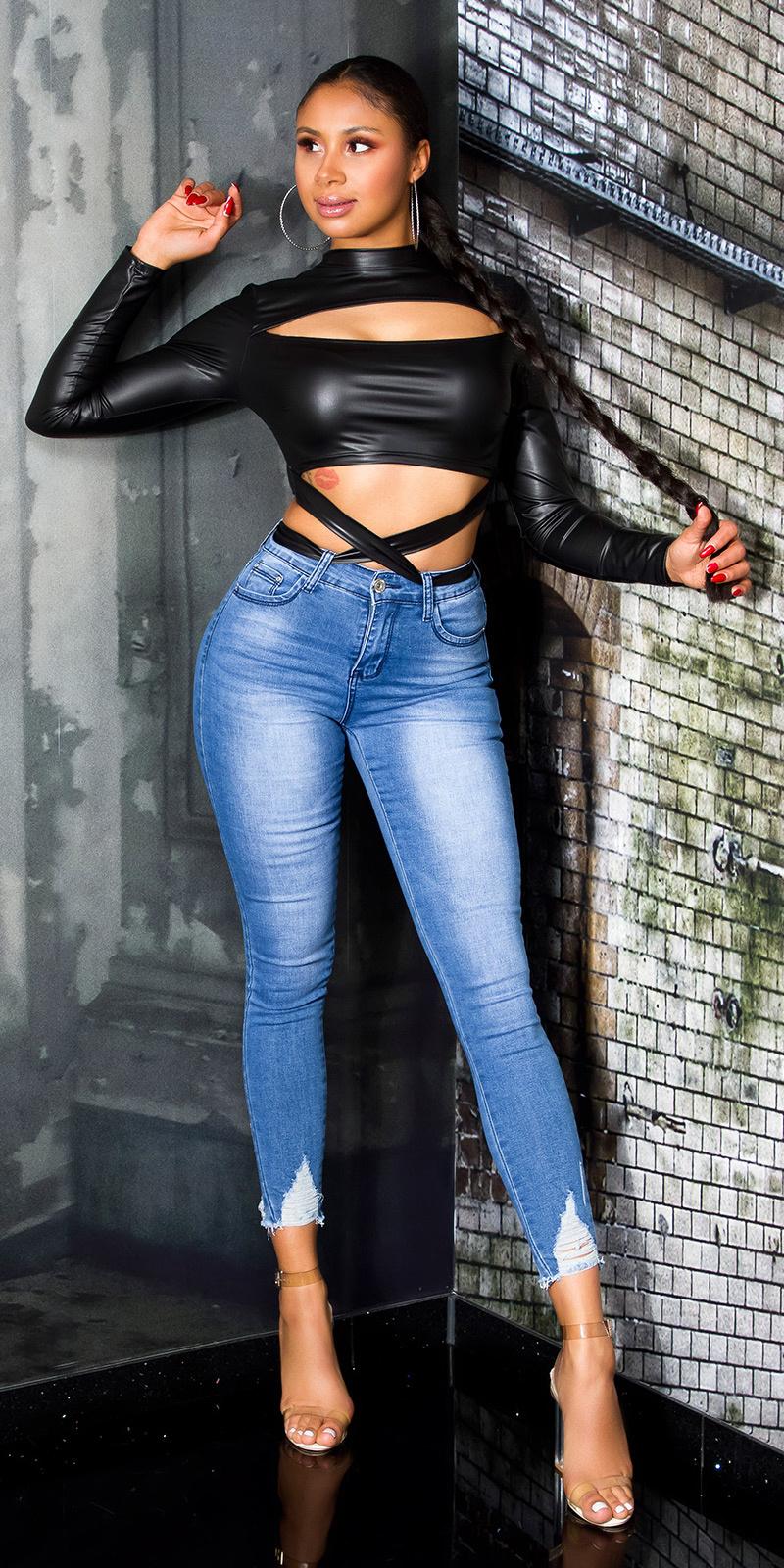 Sexy skinny jeans blauw