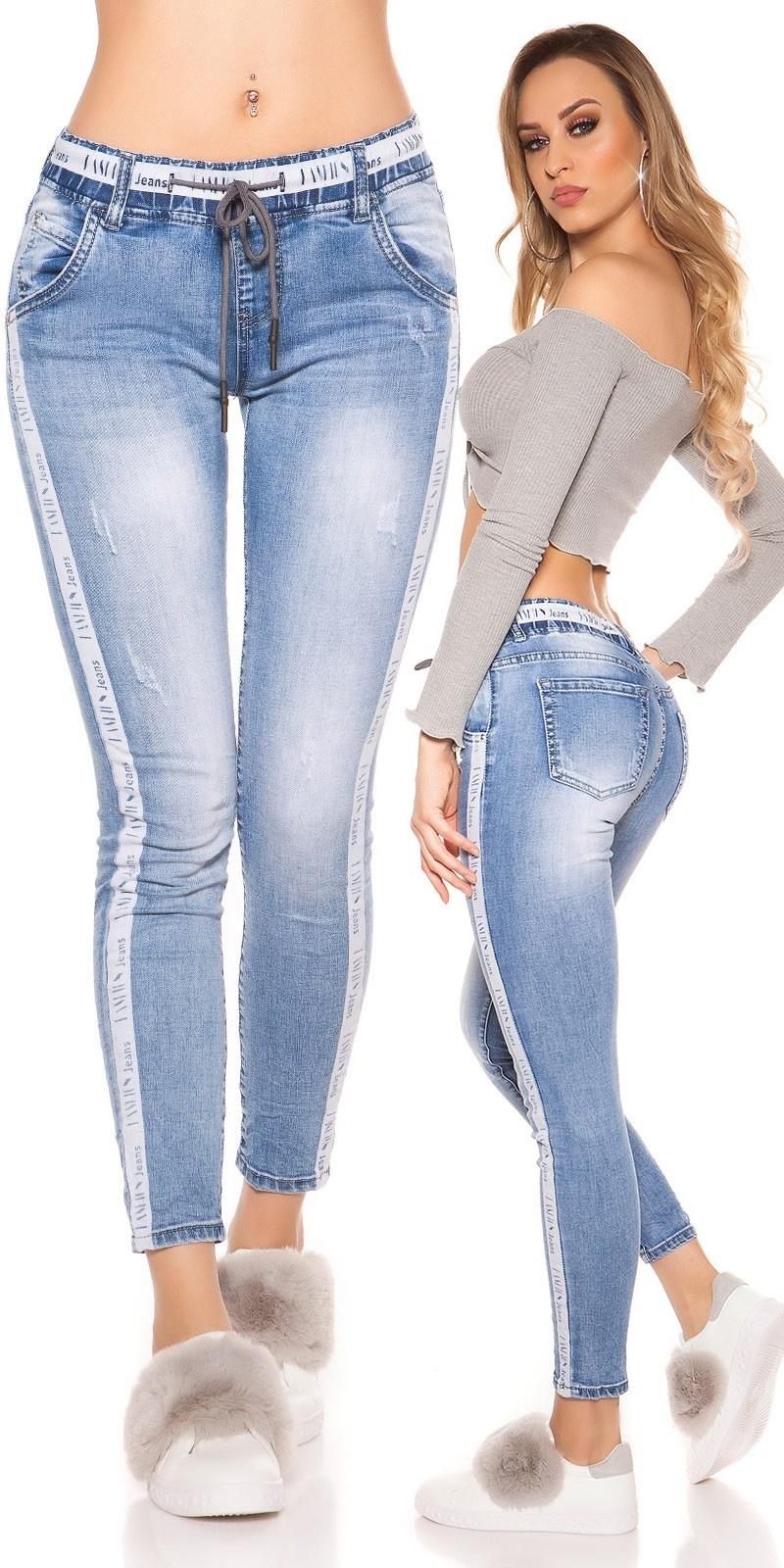 Trendy Skinny Denimjogger Jeansblue