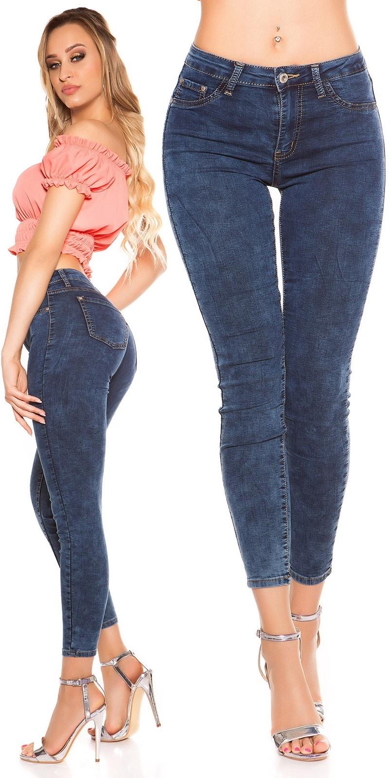 Sexy Skinny Jeans dark denim Jeansblue