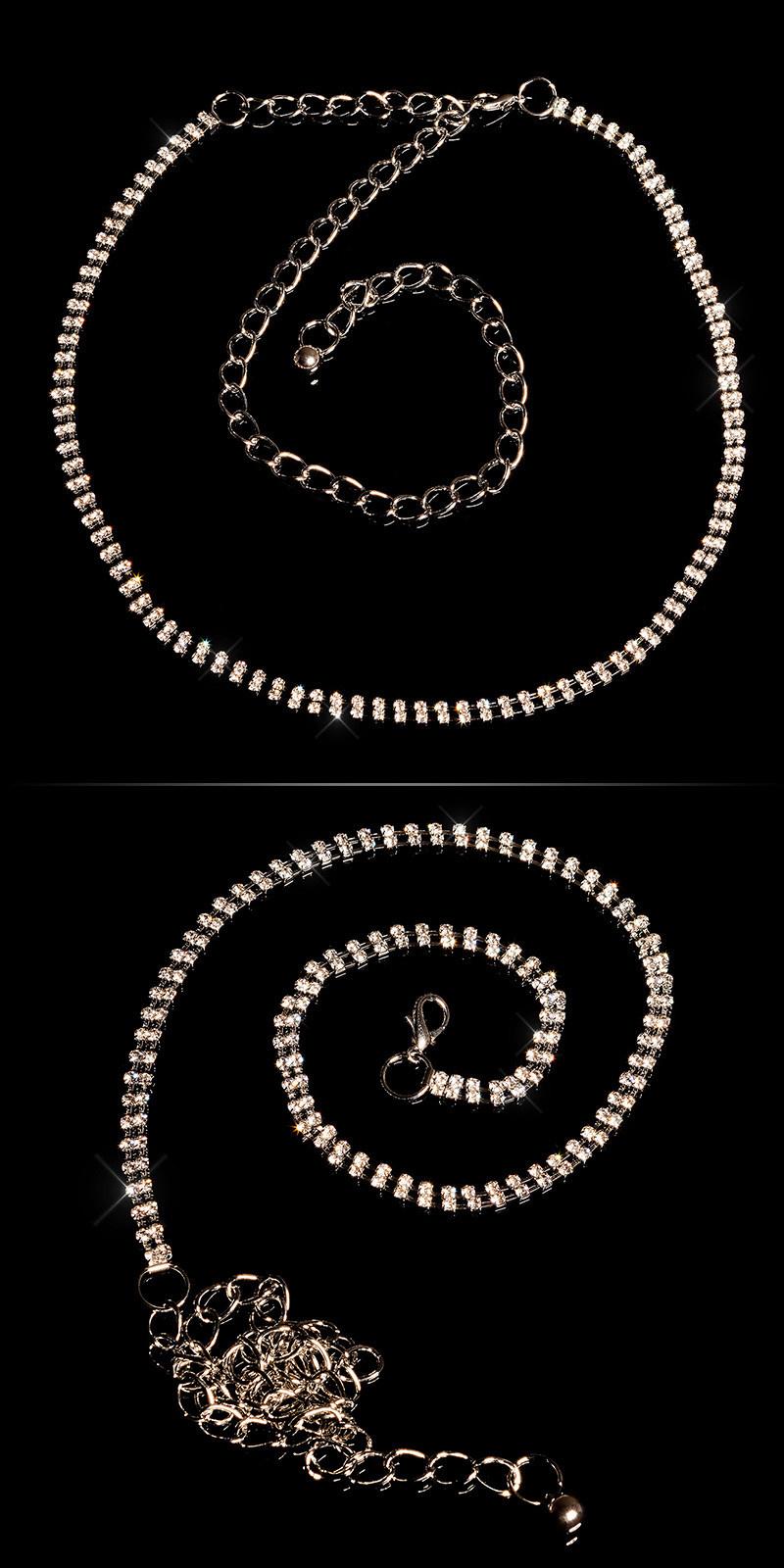 Trendy ketting riem zilver