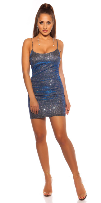 Sexy Party Glitter Mini Dress Blue