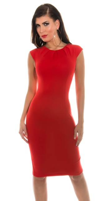 Sexy KouCla Etuipencil dress Red