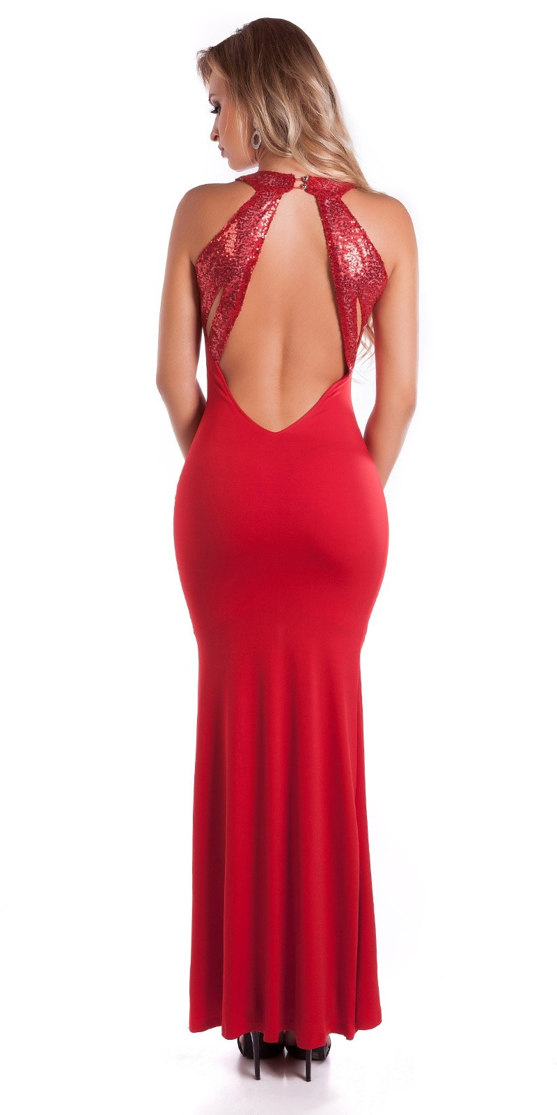 Red Carpet Look! Sexy KouCla dress with sequins Red