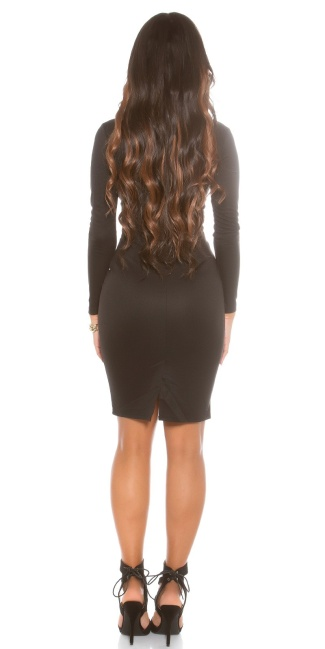 sheath dress with sexy Dekoltee Black