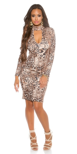 sheath dress with sexy Dekoltee Leo