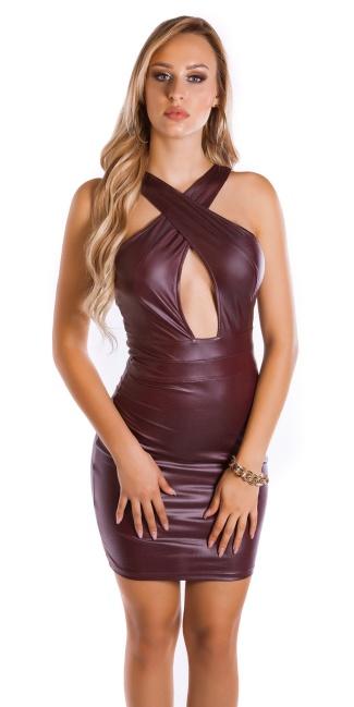 49b5ca9ded Sexy KouCla Wet look Mini dress Bordeaux - ai0000K19345-2 by Cosmoda ...