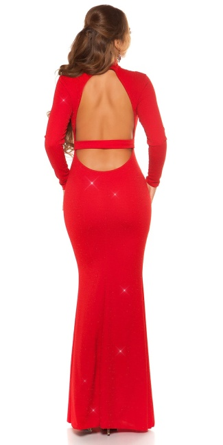 Sexy Red-Carpet KouCla Neck Evening Gown WOW! Red