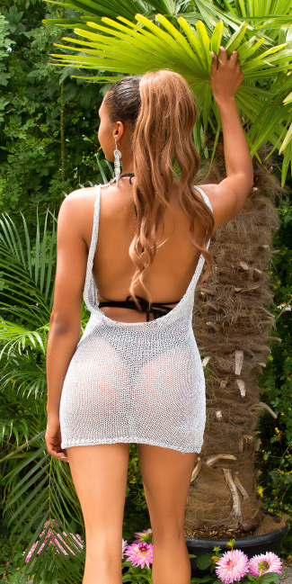 Sexy KouCla Metalic look Cover-up / dress Silver