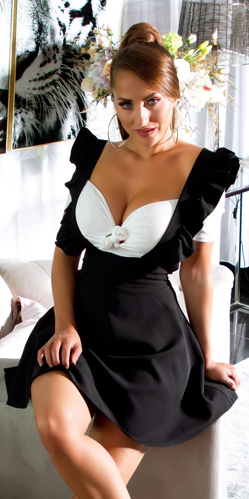 Sexy hoge taille rok zwart