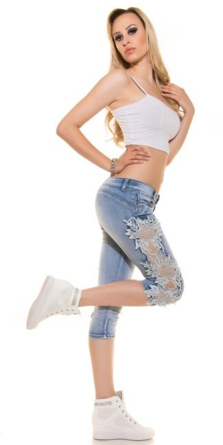 Sexy KouCla PuSH UP Capri jeans with lace White - ai0000K600-390-3 ... dd8edd307d