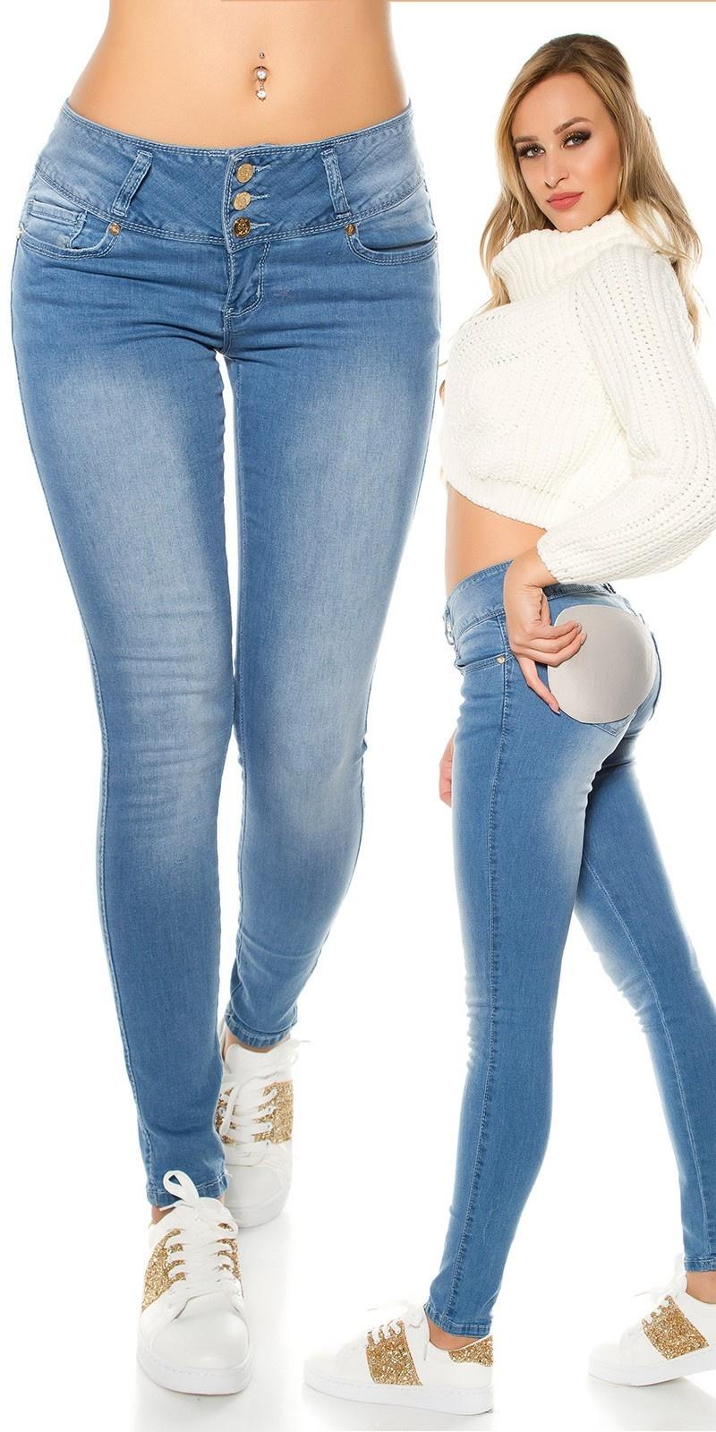 Sexy Koucla MAGIC BOOTY Push Up skinnyJeans Jeansblue