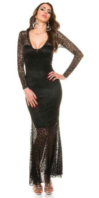 Red-Carpet-Look!Sexy Koucla evening dress laces Black