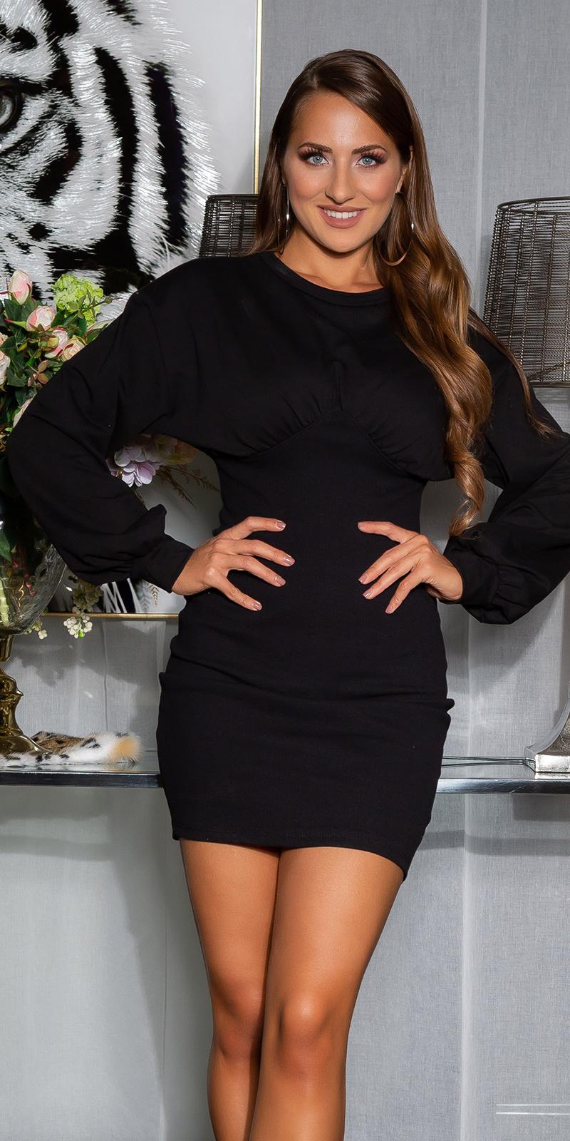 Sexy sporty bodycon jurk zwart