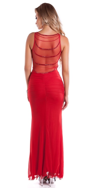 Red Carpet Look! Sexy KouCla dress w. mesh Red