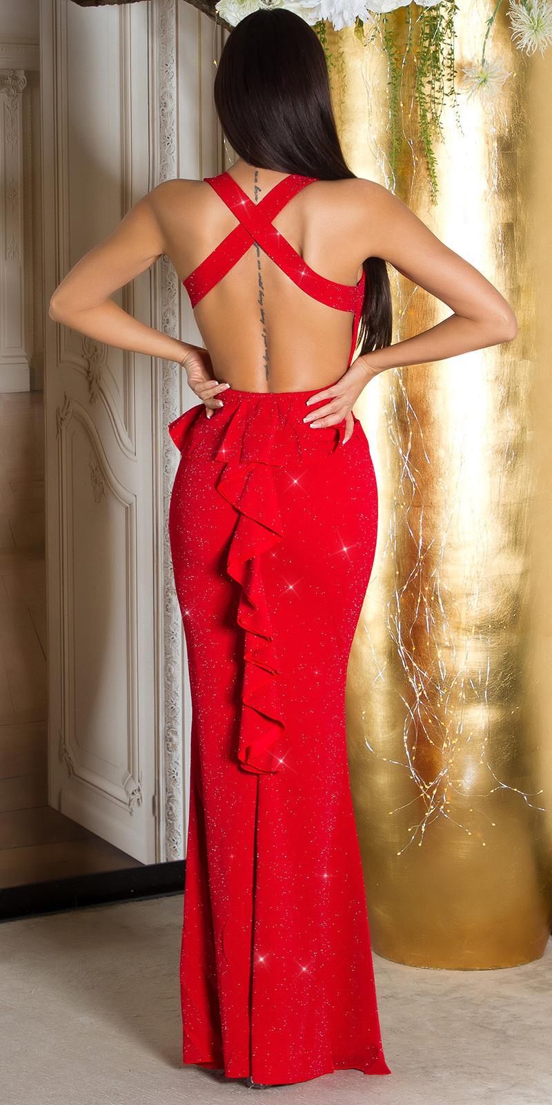 Sexy feest uitgaans glitter jurk met peplum zwartzilver