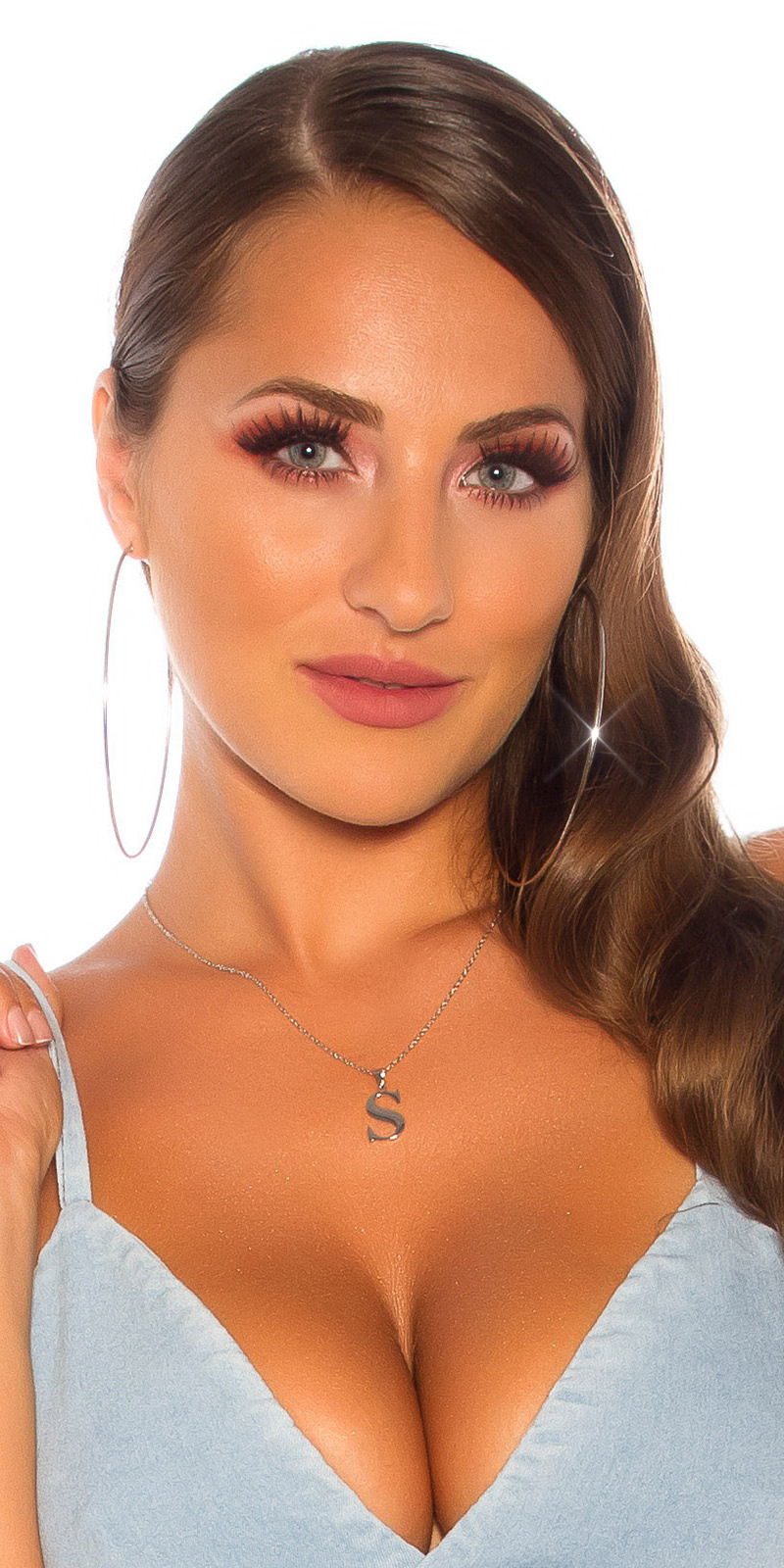 Sexy letter necklace S Silver