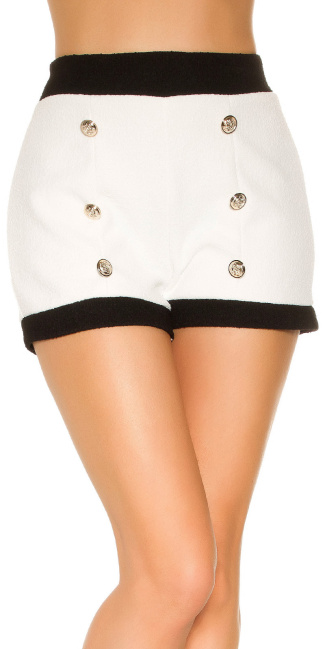 Sexy Bouclé Look Shorts White