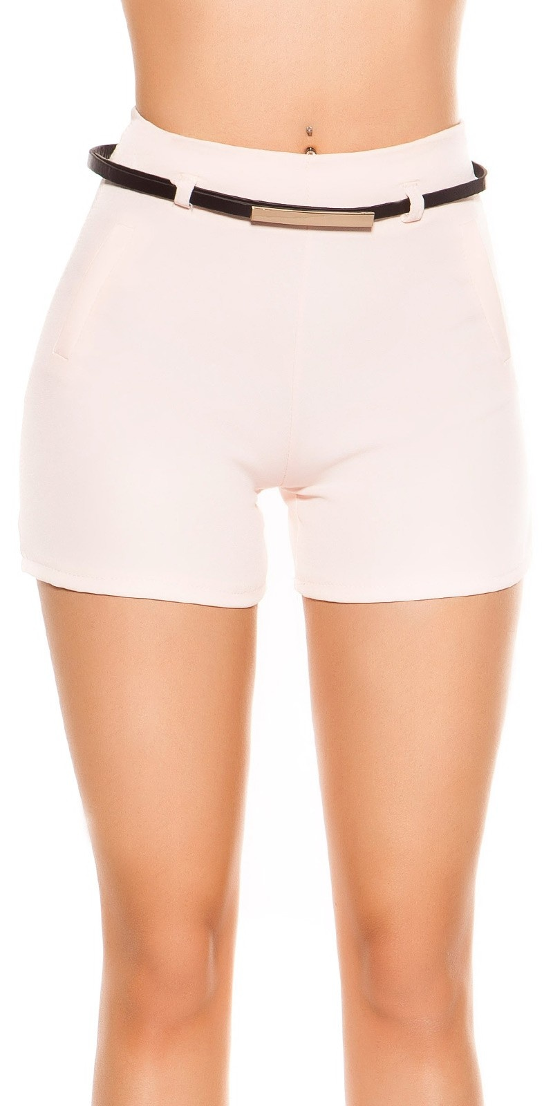 Sexy shorts met riem roze