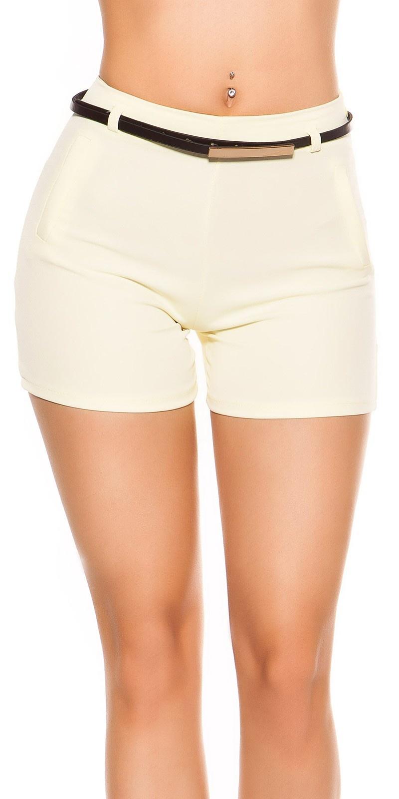 Sexy shorts met riem geel