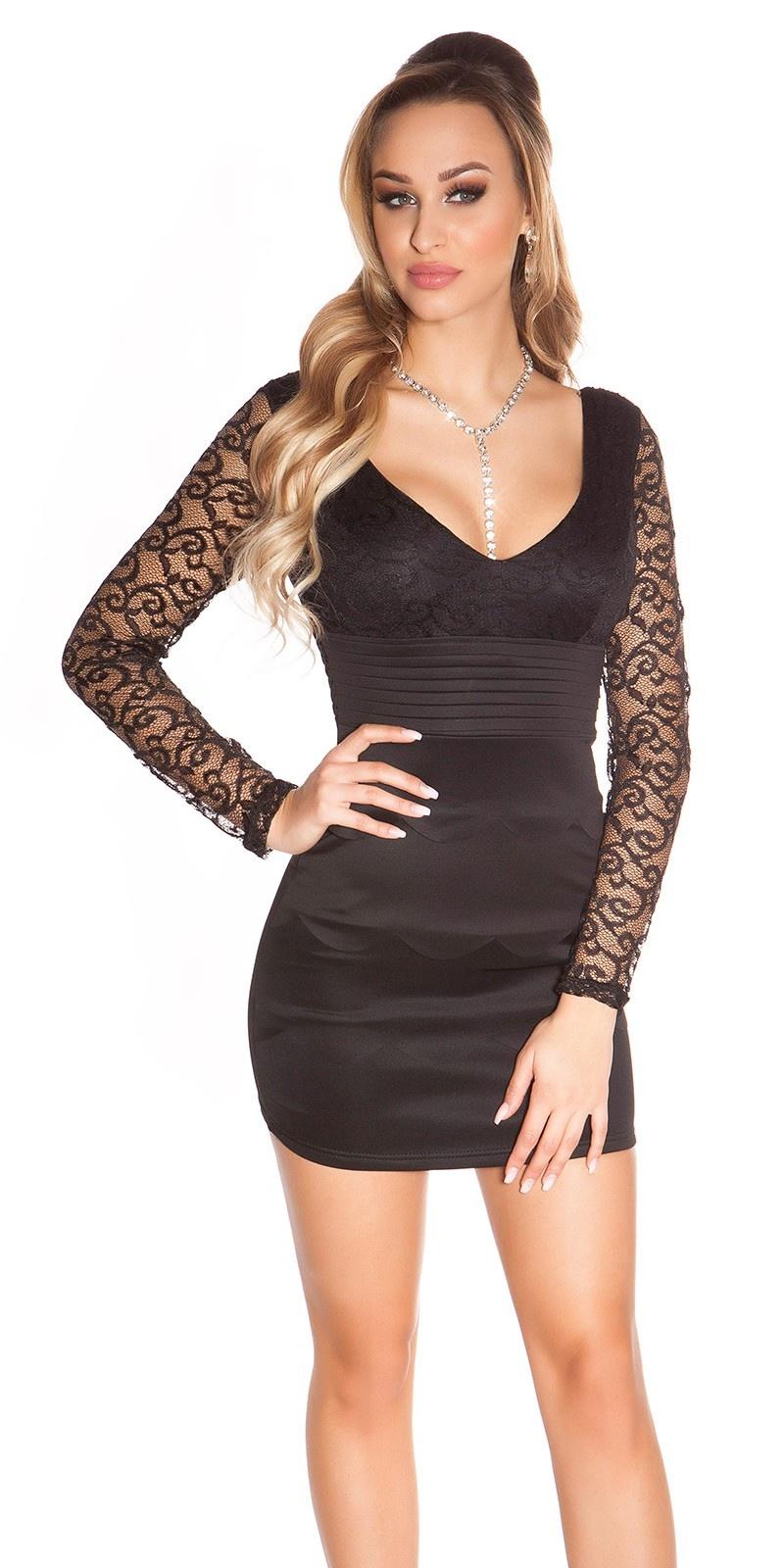 Sexy KouCla minidress with lace Black