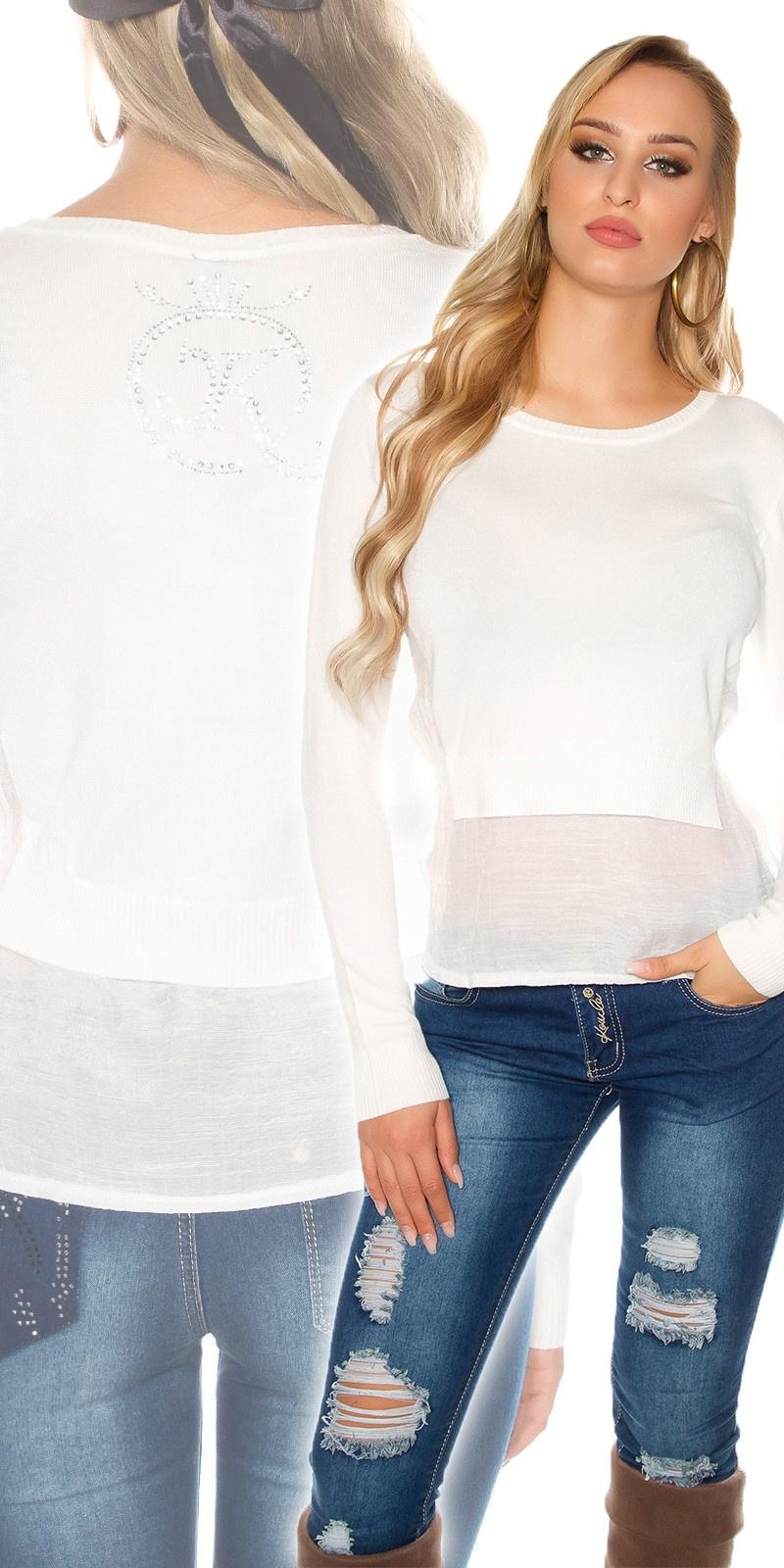 Sexy KouCla 2 in 1 sweater White