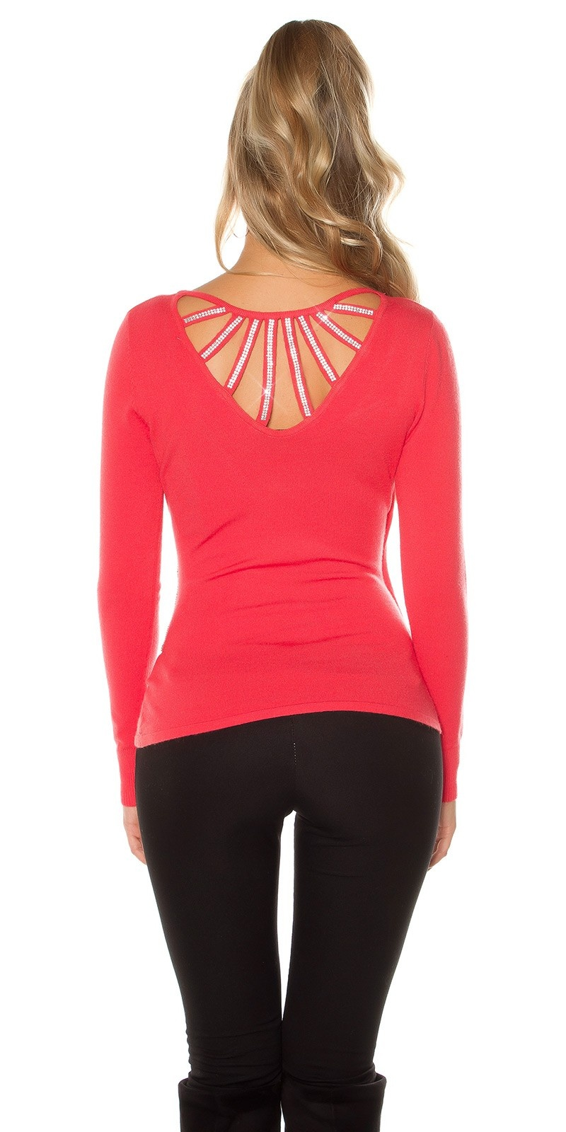 Sexy Koucla pullover with sneaky cut Coral