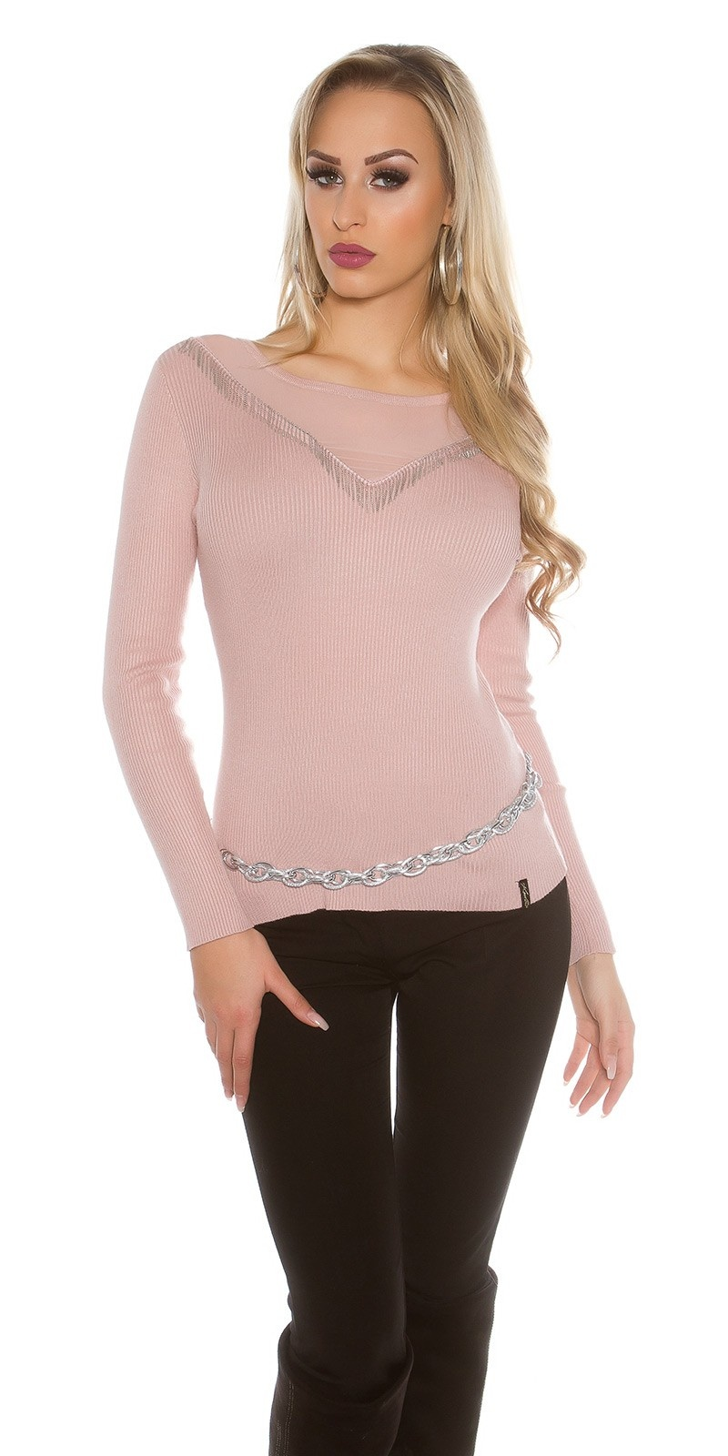 Sweater-trui oudroze