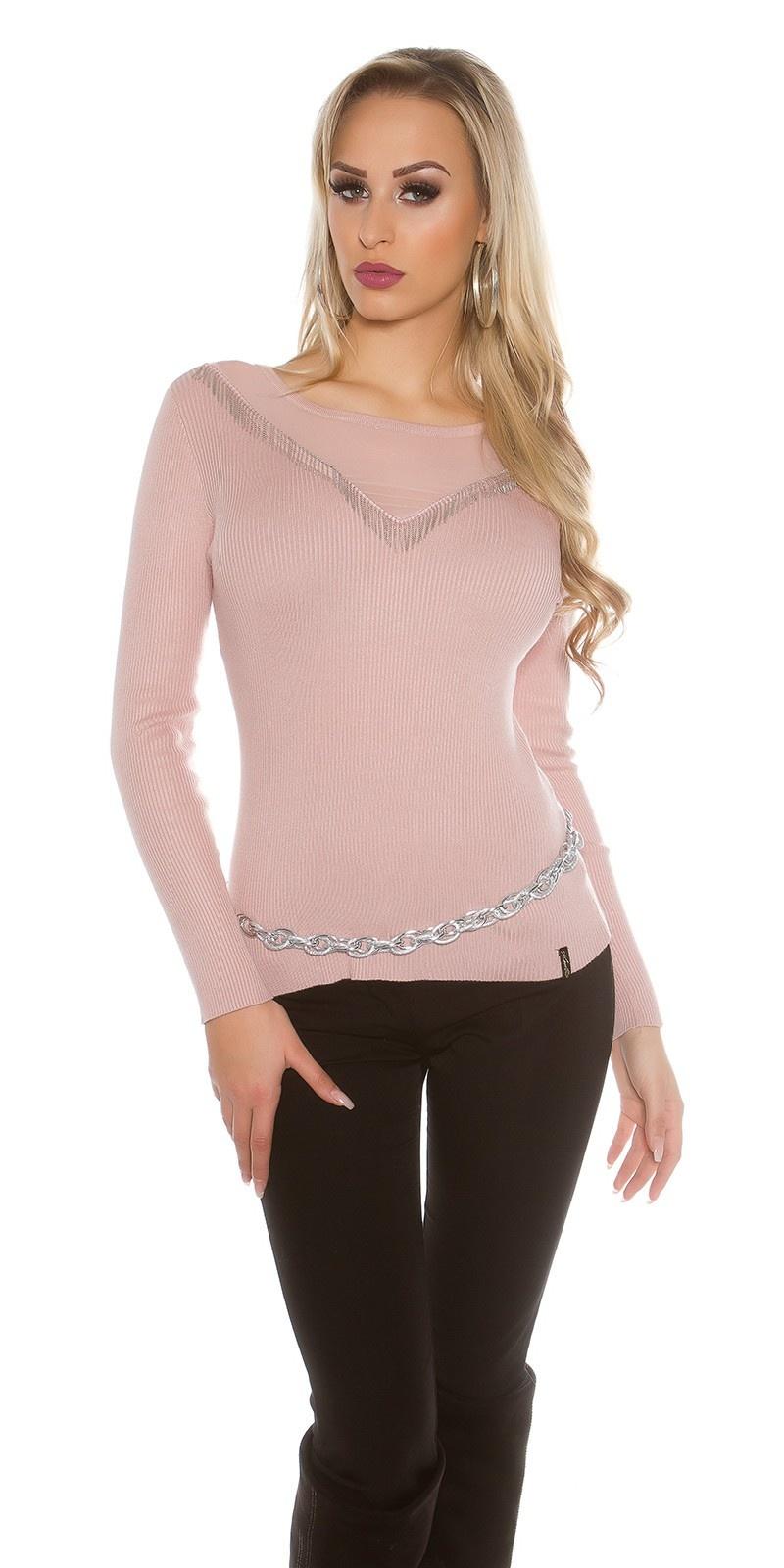 Sweater-trui oudroze