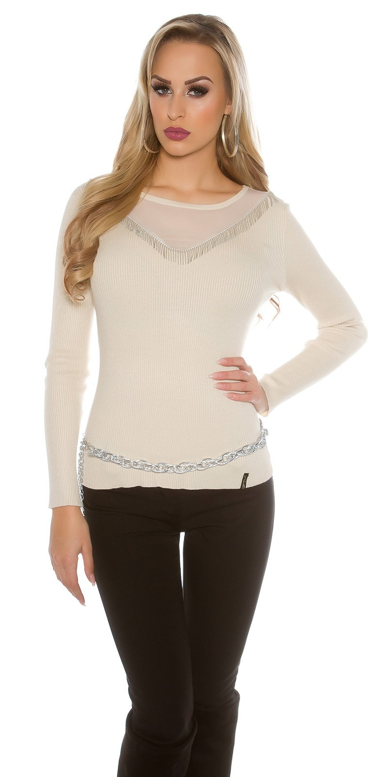 Sweater-trui beige