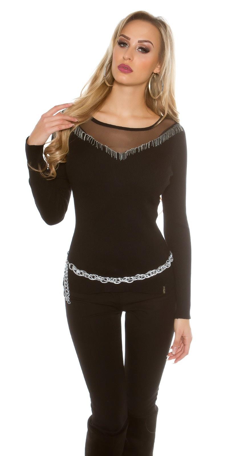 Sweater-trui zwart