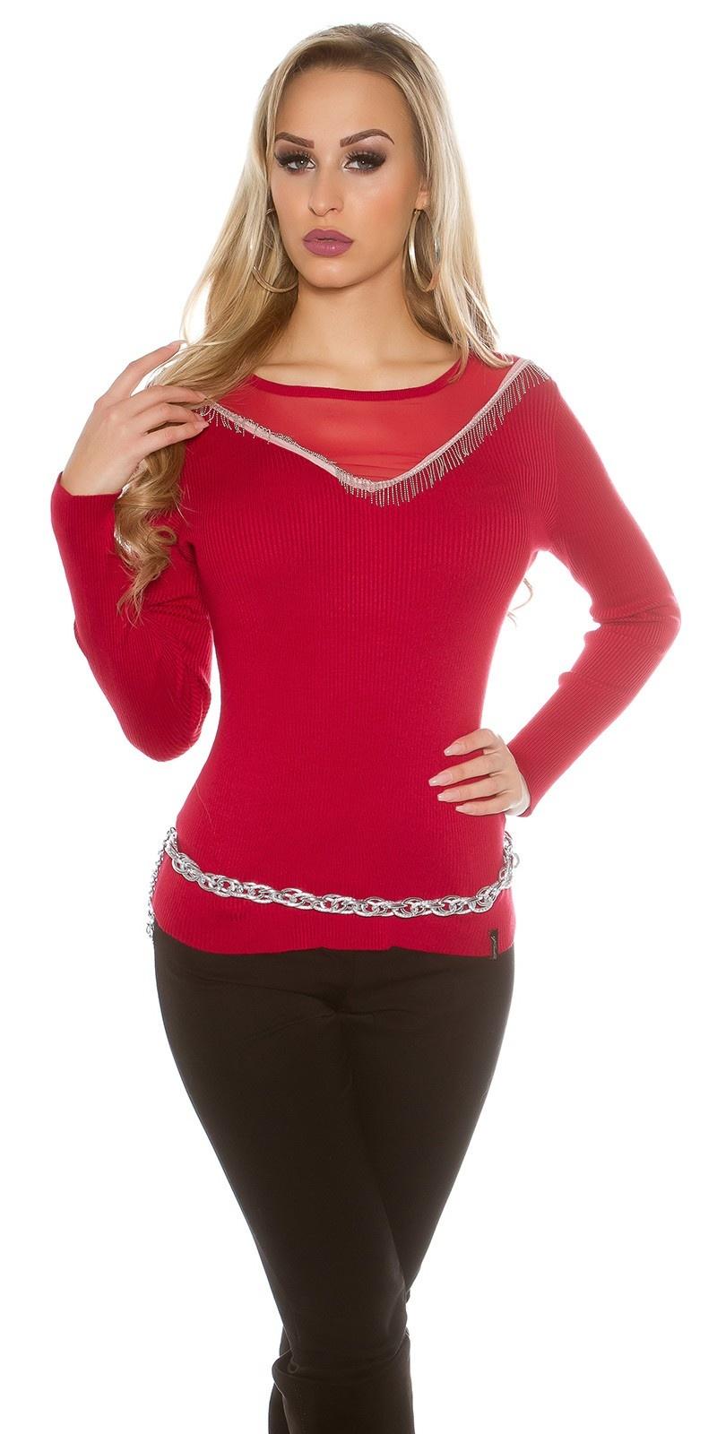 Sweater-trui rood