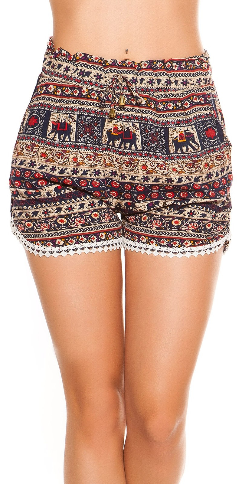 Sexy Shorts in All Over Print Navy