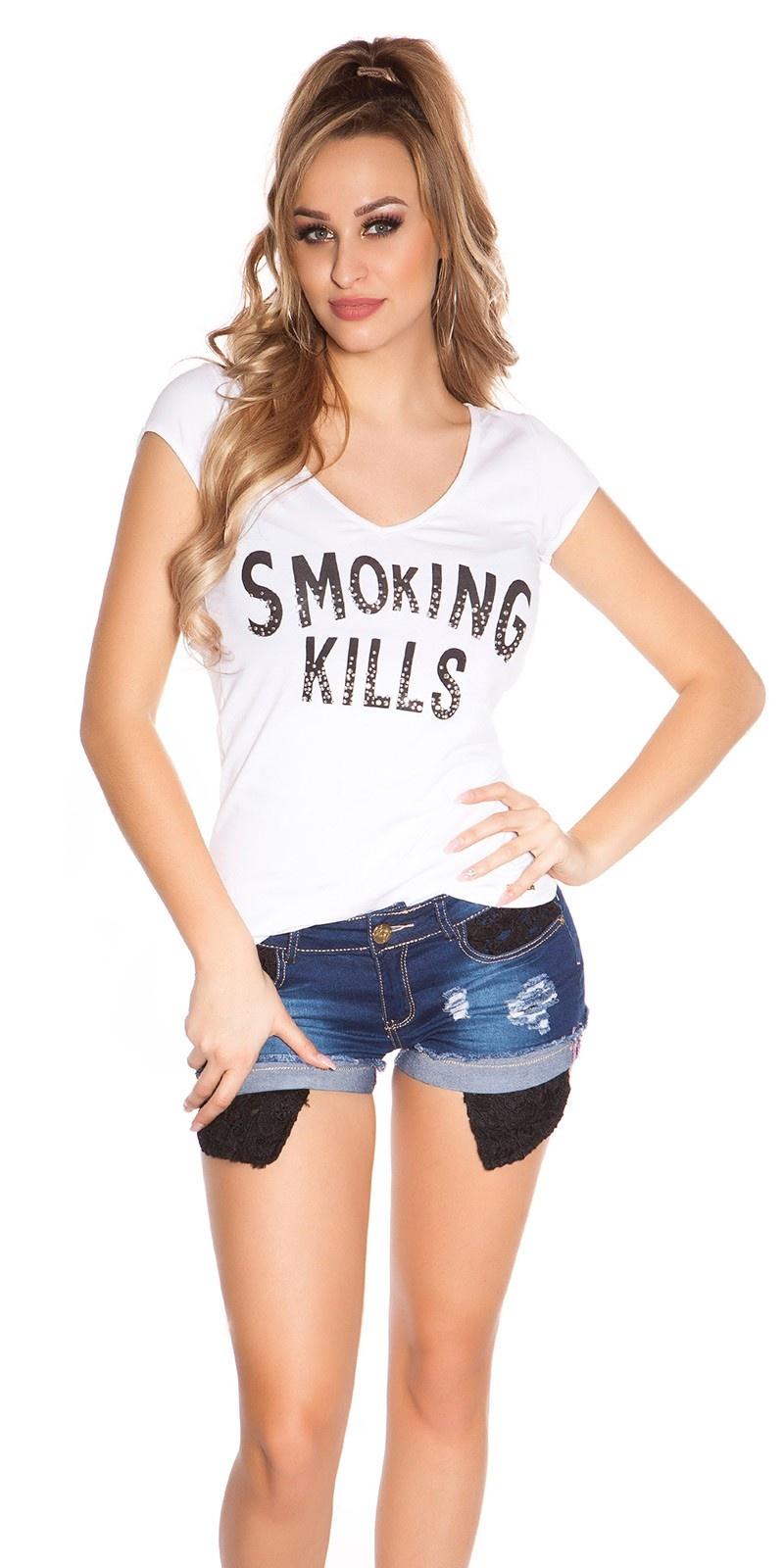 Sexy t-shirt smoking kills wit