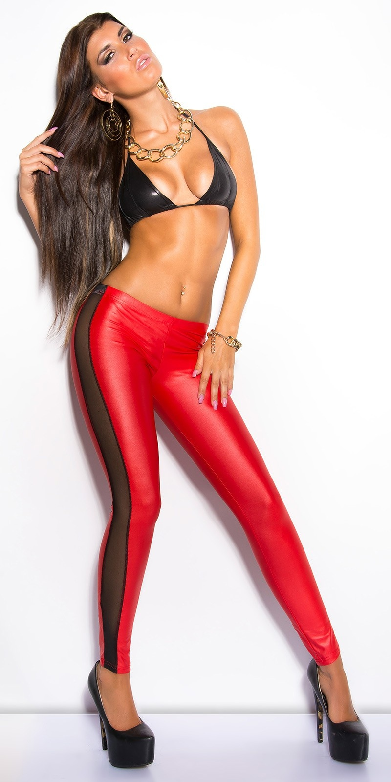 Leggings with netapplications Red