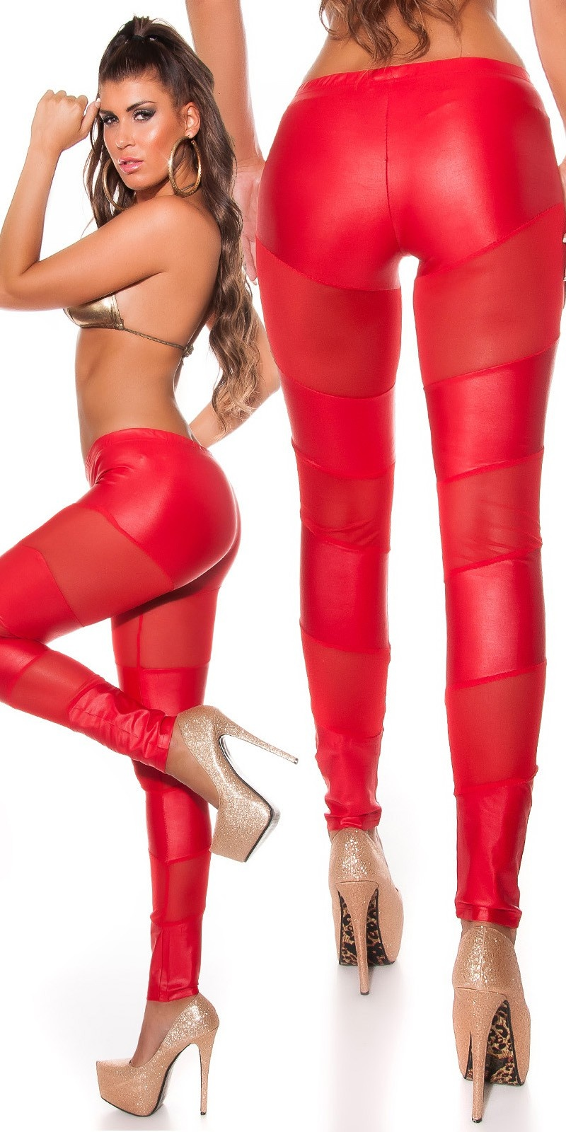 Sexy leggings rood