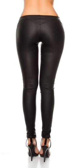 e62e2cefe91980 Sexy KouCla leatherlook Pants with deco hook Black - ai0000LE19383-1 ...