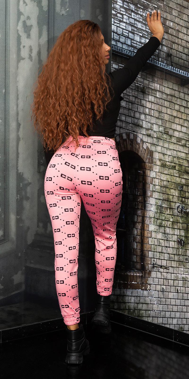 Sexy sport / lounge broek roze