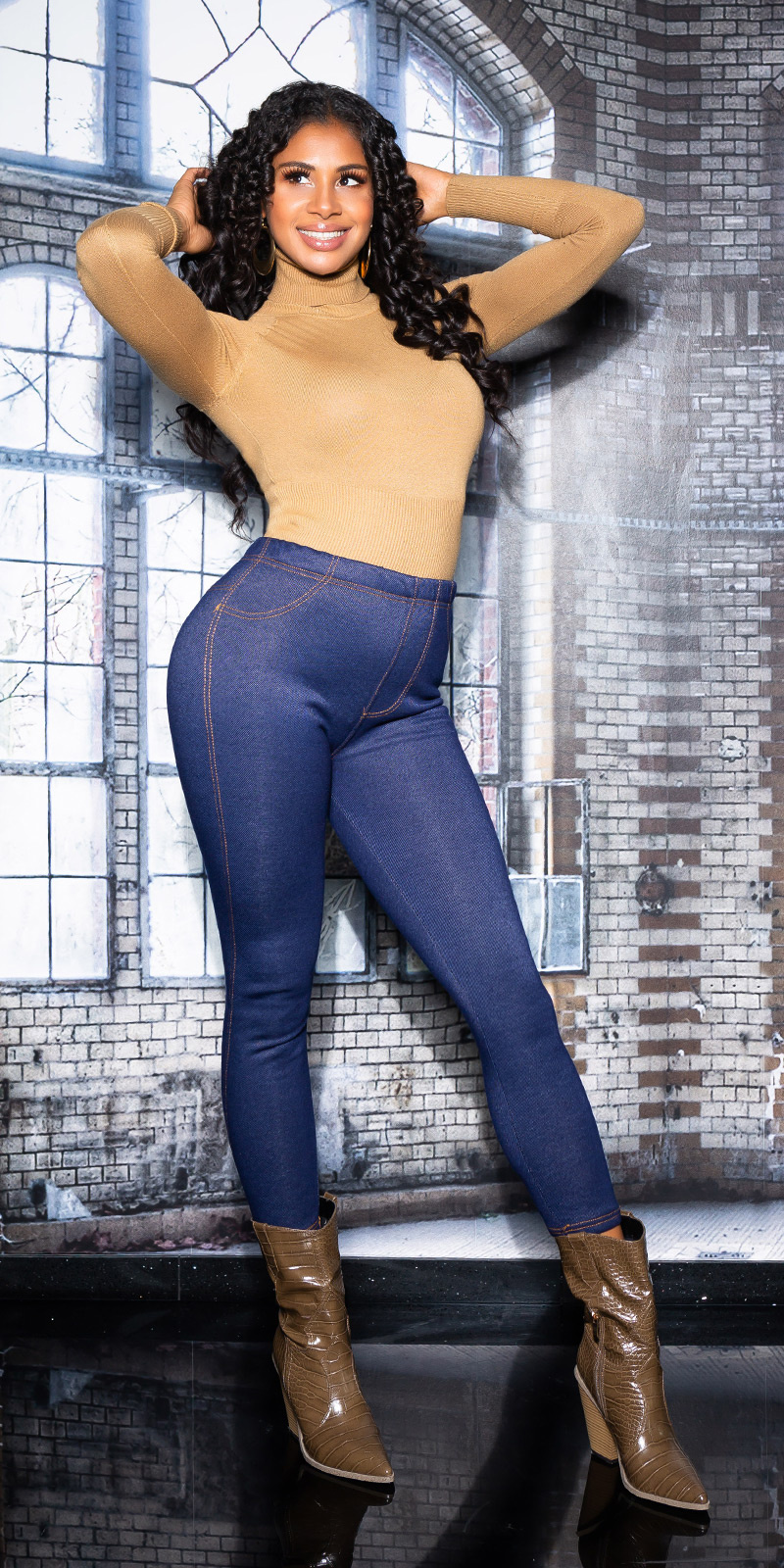 cosmodacollection Trendy jeggings thermo blauw