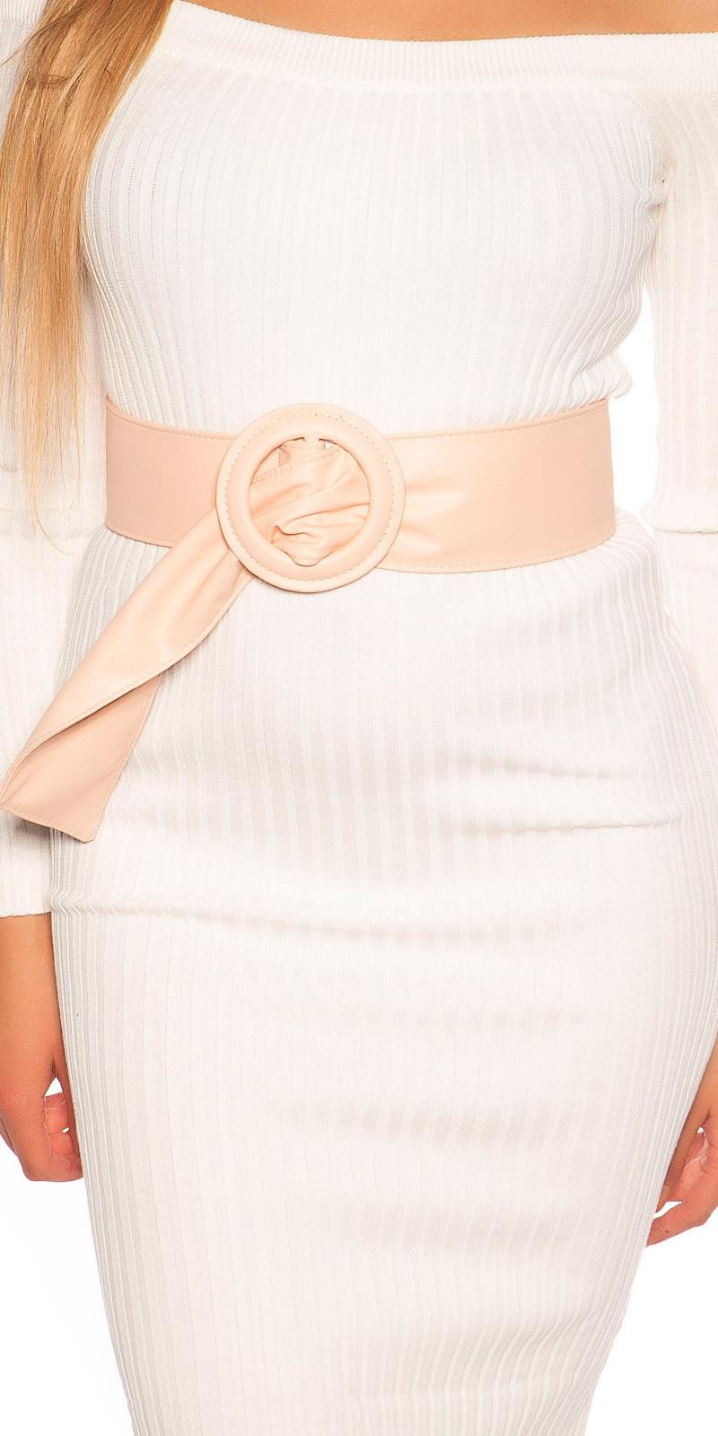 Trendy leatherette waist belt Pink