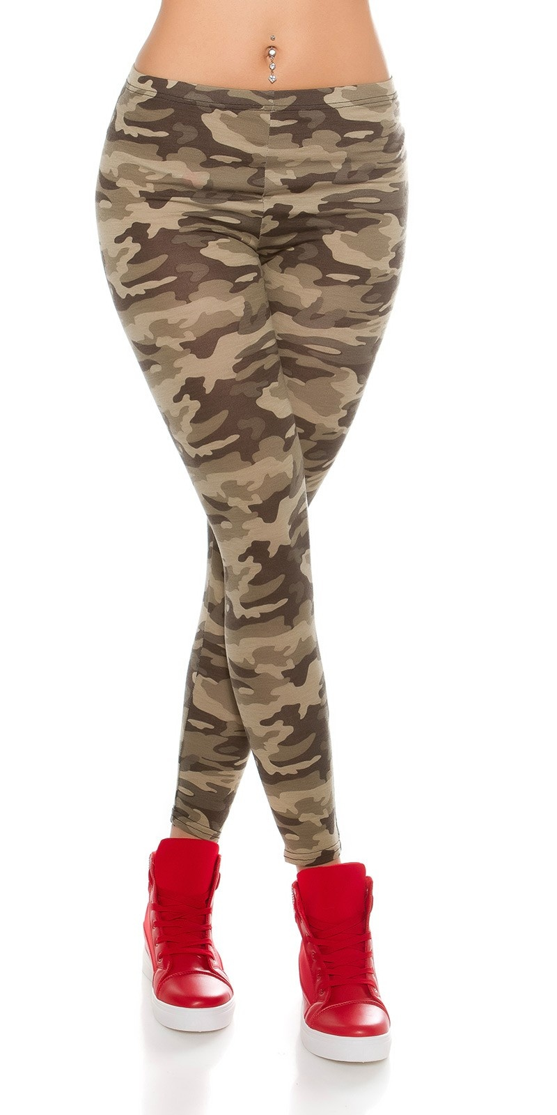 Trendy Camouflage look leggins Army