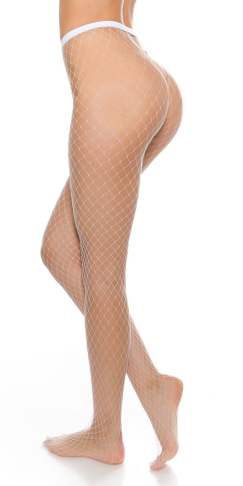 Sexy mesh tights White