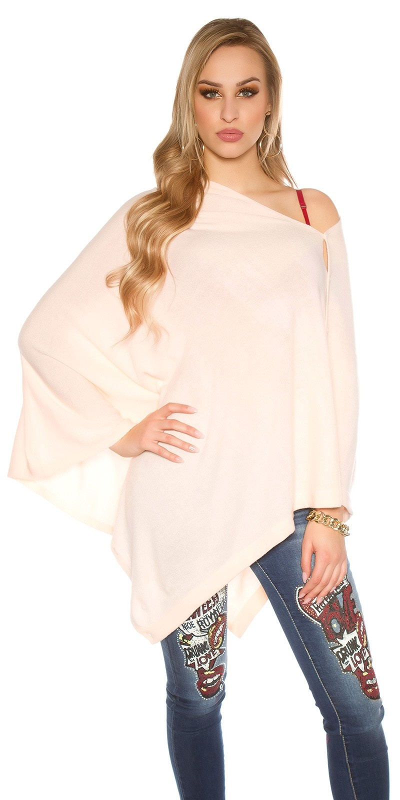 Trendy sjaal - poncho rose