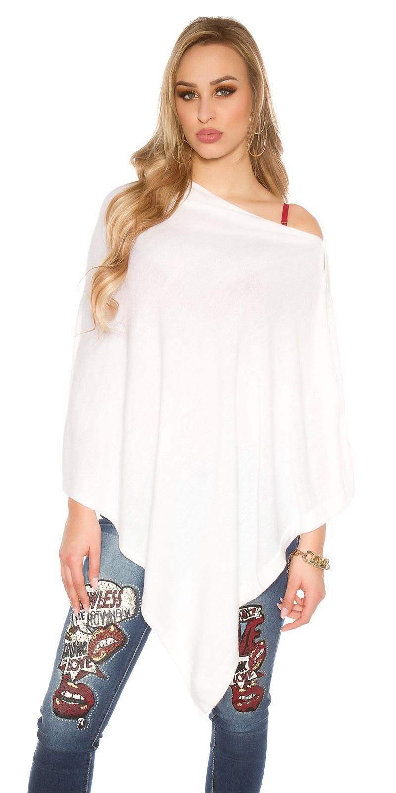 Trendy Scarf - Poncho It s Up2U White