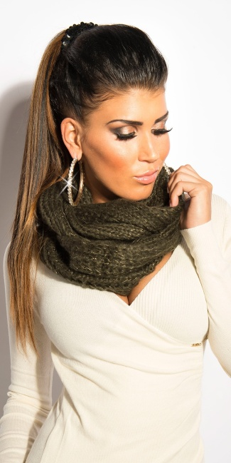 Trendy loop-scarf Khaki
