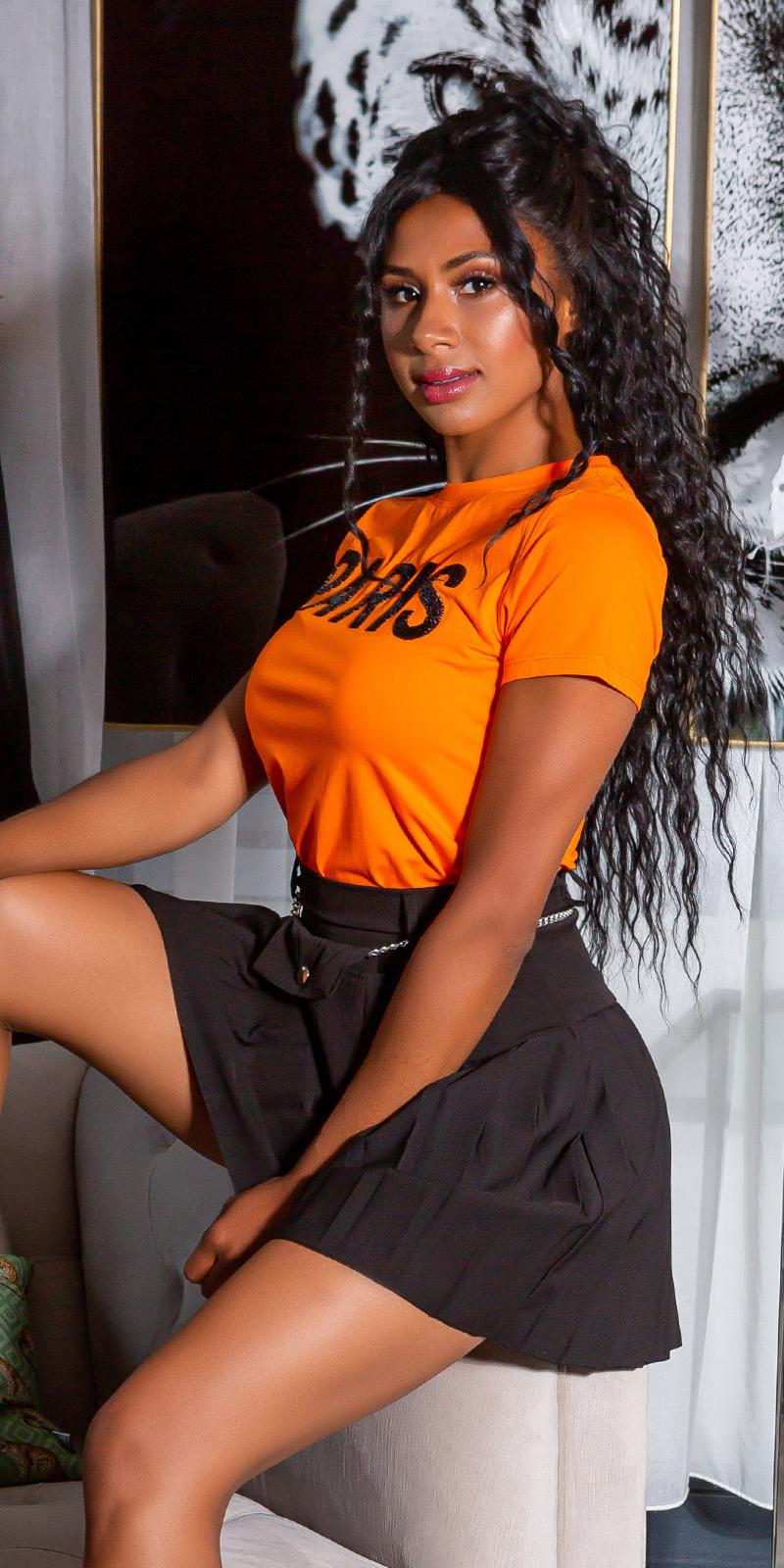 Trendy paris shirt oranje