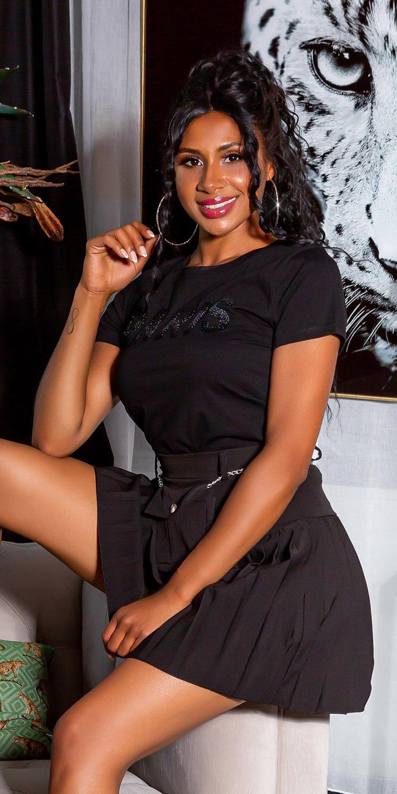 Trendy paris shirt zwart