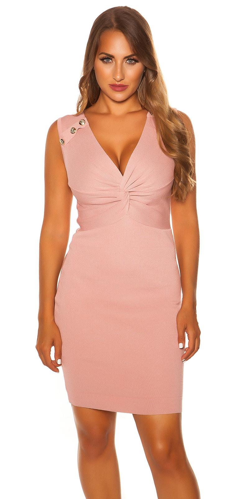 Sexy sleeveless knit dress Rose